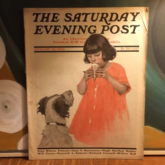 Vintage Other - August 12, 1922 The Saturday Evening Post